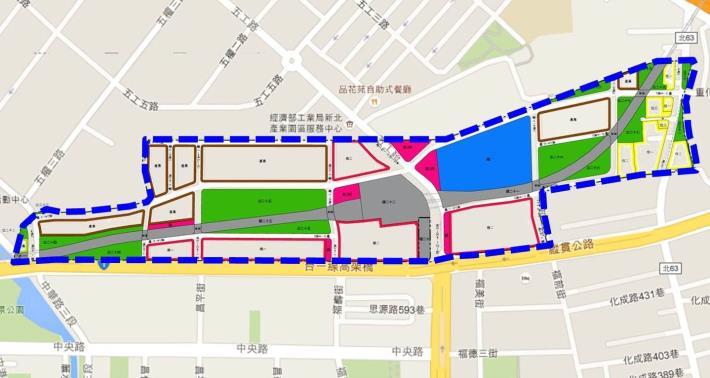 新莊北側知識產業園區區段徵收開發案土地使用分區圖_圖示