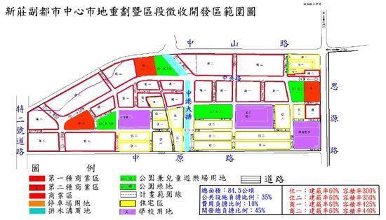 新莊副都市中心市地重劃暨區段徵收開發區範圍圖_圖示