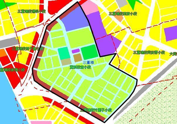 三重二重埔市地重劃區都市計畫圖_圖示