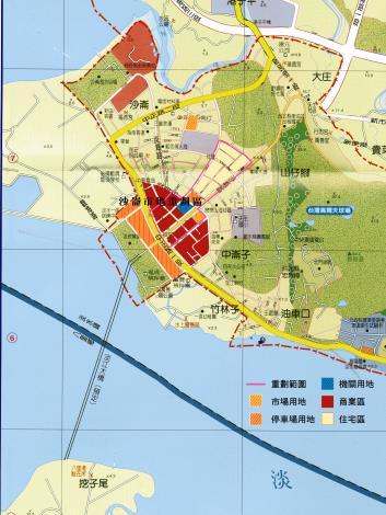 淡水沙崙市地重劃區範圍圖_圖示