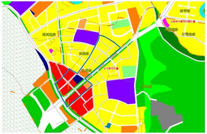 淡水沙崙市地重劃區都市計畫圖_圖示