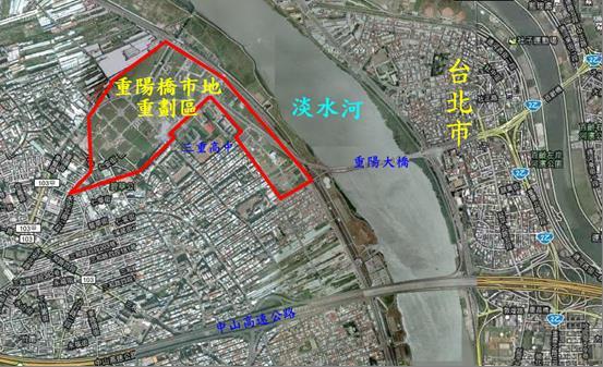 三重重陽橋市地重劃區範圍圖