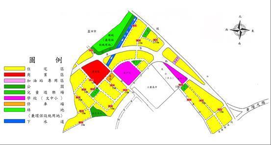 三重重陽橋市地重劃區都市計畫圖_圖示