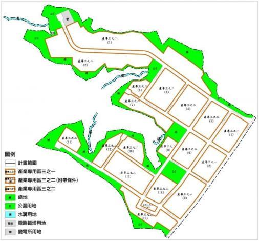林口工一市地重劃區土地使用計畫示意圖_圖示