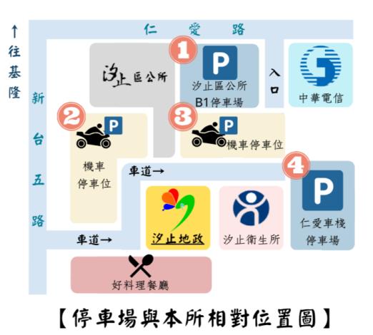 停車場與本所相對位置圖_圖示