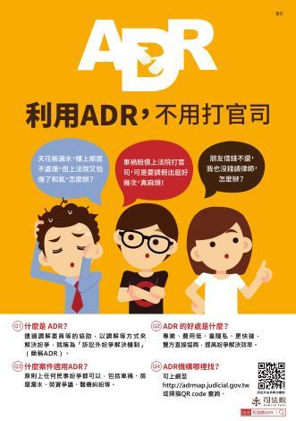 1、訴訟外紛爭解決機制(ADR)_圖示