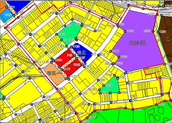 三峽礁溪市地重劃區都市計畫圖