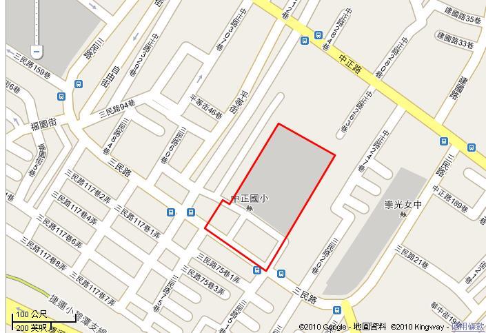 新店大坪林市地重劃區範圍圖