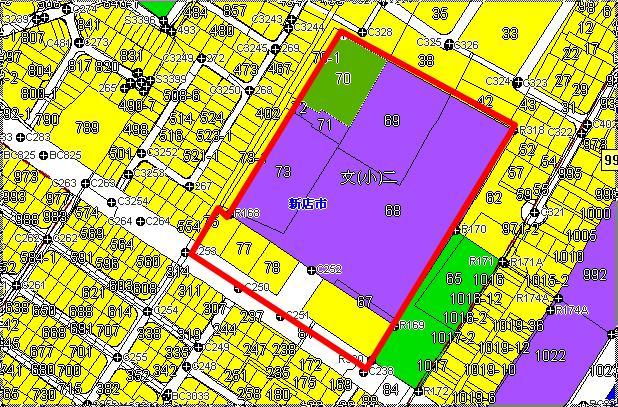 新店大坪林市地重劃區都市計畫圖