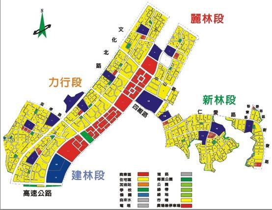林口新市鎮第三期(三、四區)市地重劃區都市計畫圖