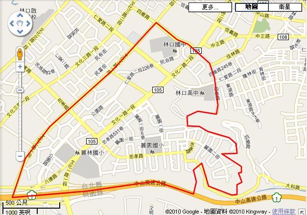 林口新市鎮(第一期)市地重劃區開發範圍