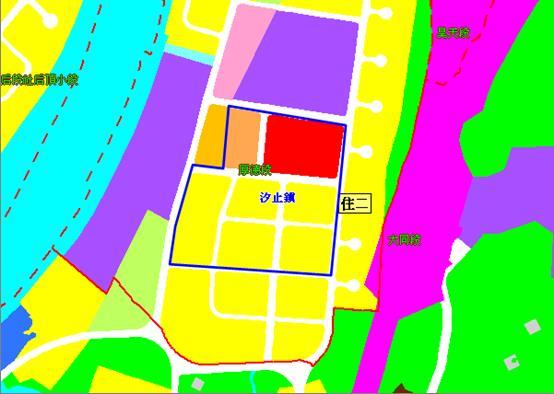 汐止樟樹灣市地重劃區都市計畫圖