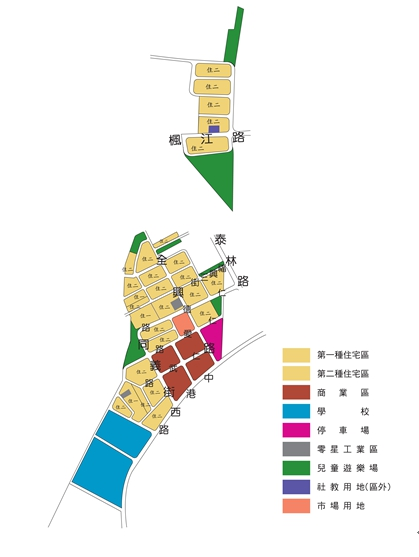 泰山東側市地重劃區都市計畫圖