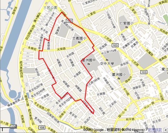 蘆洲南港子市地重劃區範圍圖