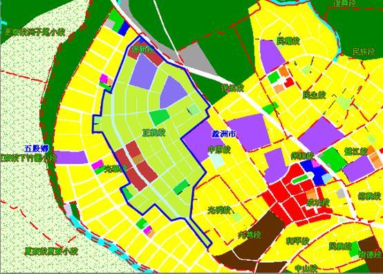 蘆洲南港子市地重劃區都市計畫圖