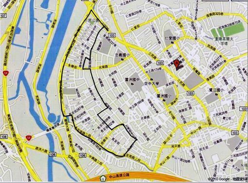 蘆洲灰磘市地重劃區範圍圖